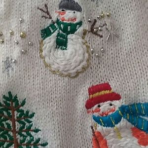 Sweaters - Snowman vest size medium